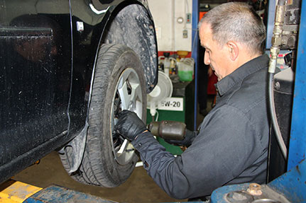 installation de pneus